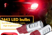 2x 7443 Red Led Flashing Strobe Bulbs Blinking Safety Rear Brake for sizing 1000 X 1000