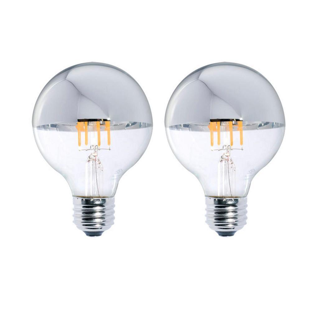 Bulbrite 40w Equivalent Warm White Light A19 Dimmable Led: Bulbrite Half Chrome Light Bulb €� Bulbs Ideas