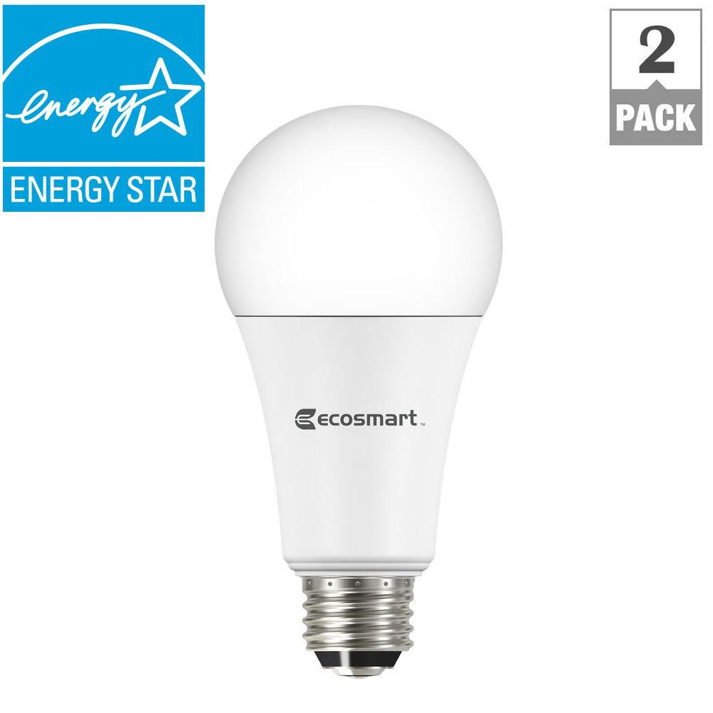 Ecosmart 60 Watt Equivalent A19 Led Non Dimmable Light Bulb Soft with dimensions 1000 X 1000