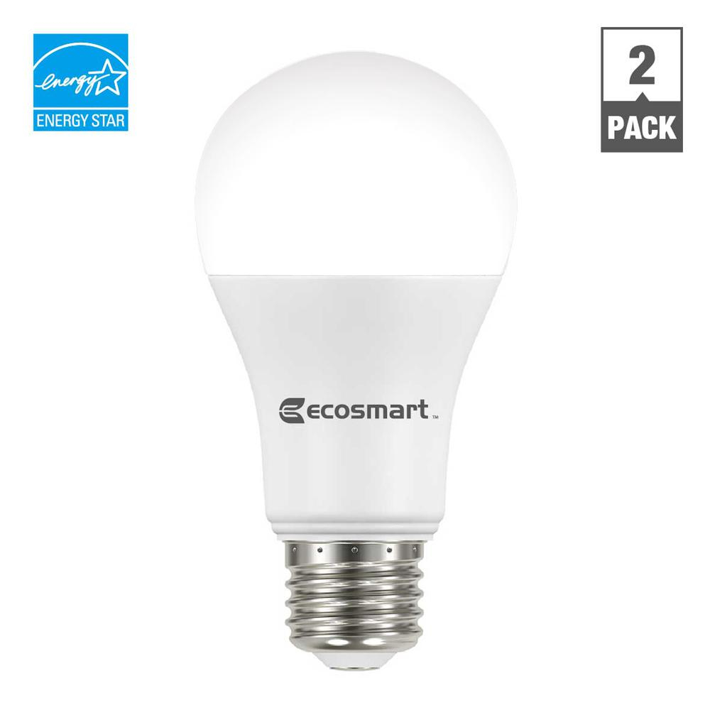 Ecosmart 75 Watt Equivalent A19 Dimmable Led Light Bulb Bright White throughout sizing 1000 X 1000