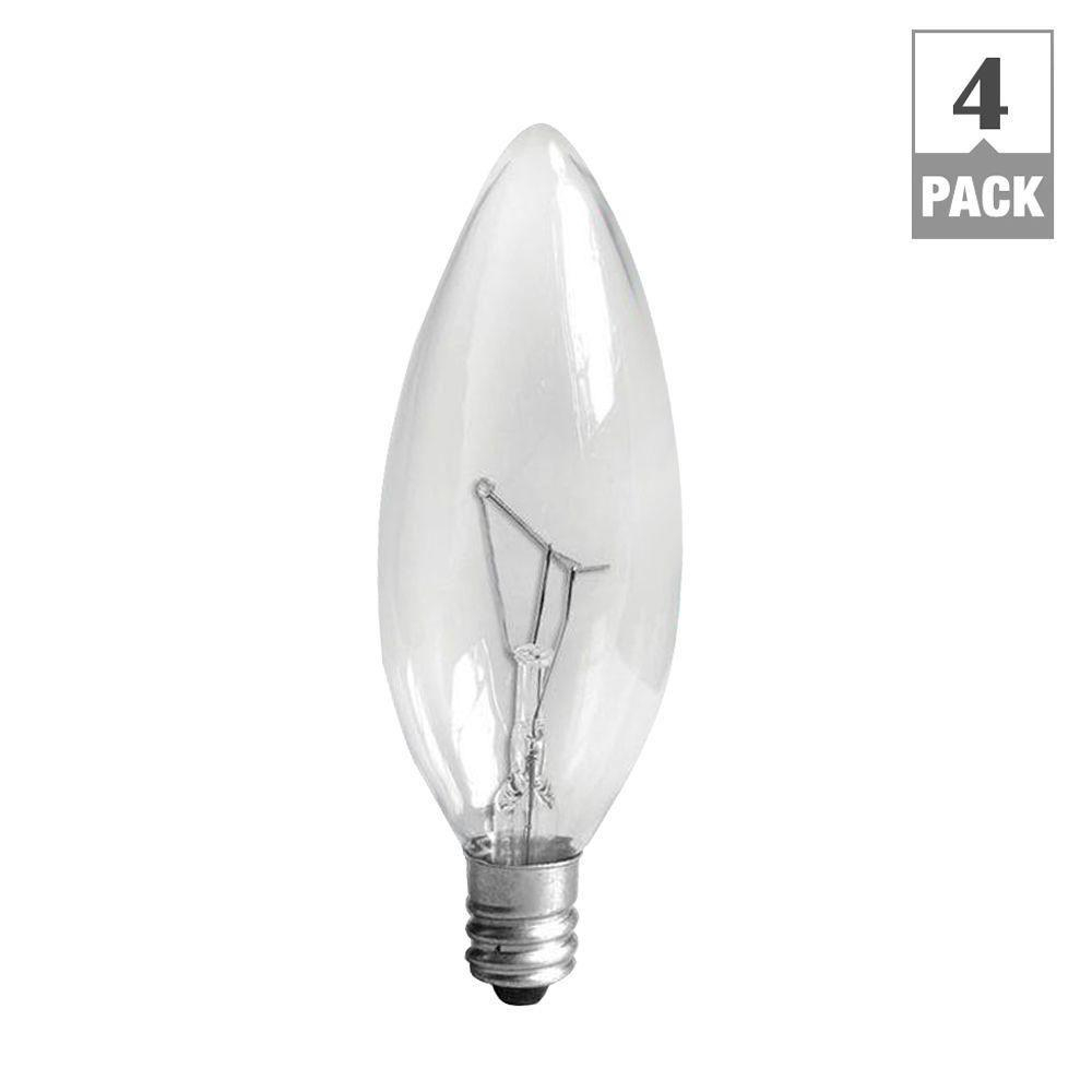 Ge 60 Watt Incandescent B10 Candelabra Base Double Life Multi Use intended for sizing 1000 X 1000