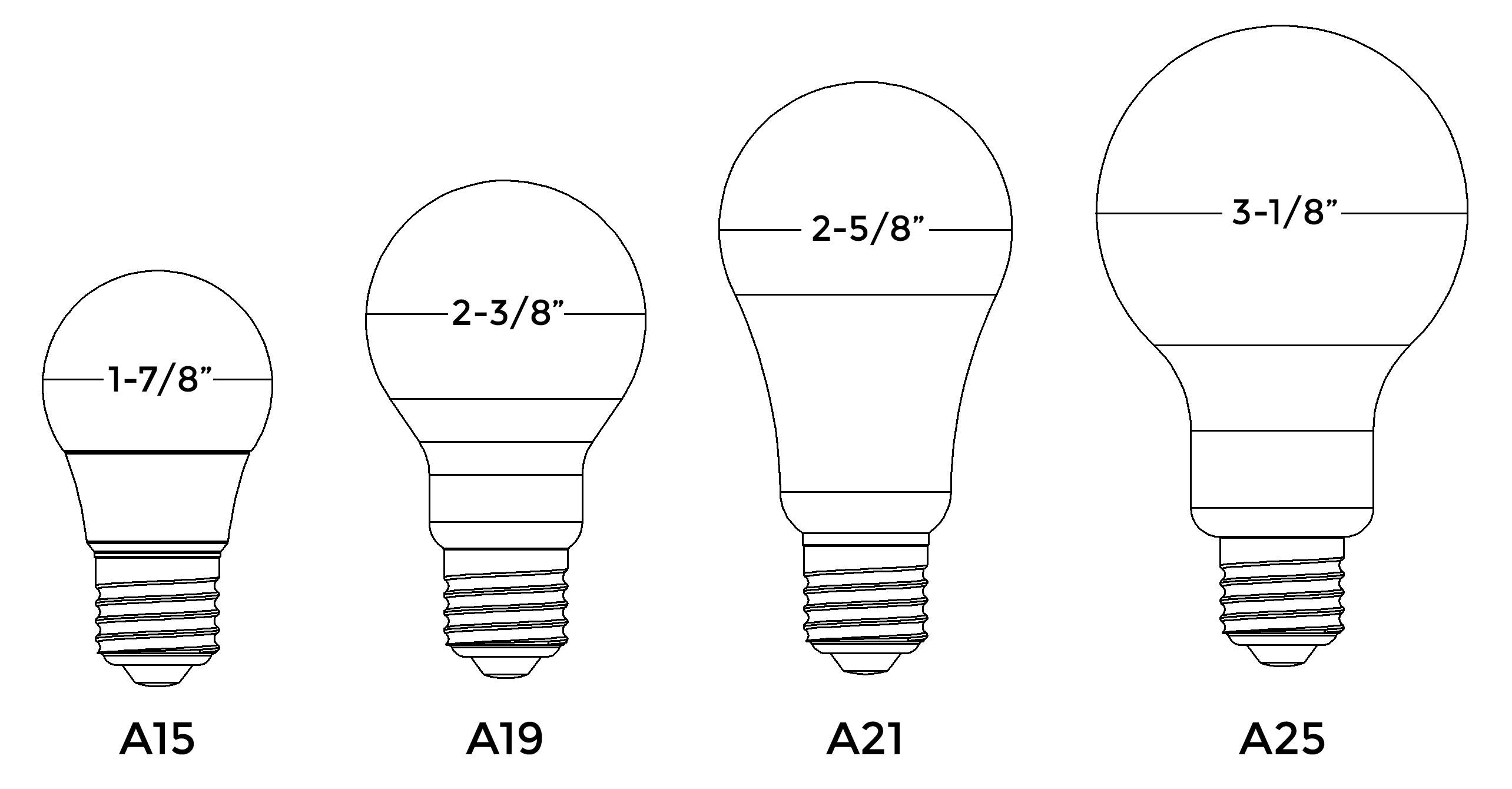 Bulb Size A19 A21 • Bulbs Ideas