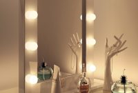 Lighting Vanity Mirror With Light Bulbs Makeup Table And Bench pertaining to size 2018 X 3000
