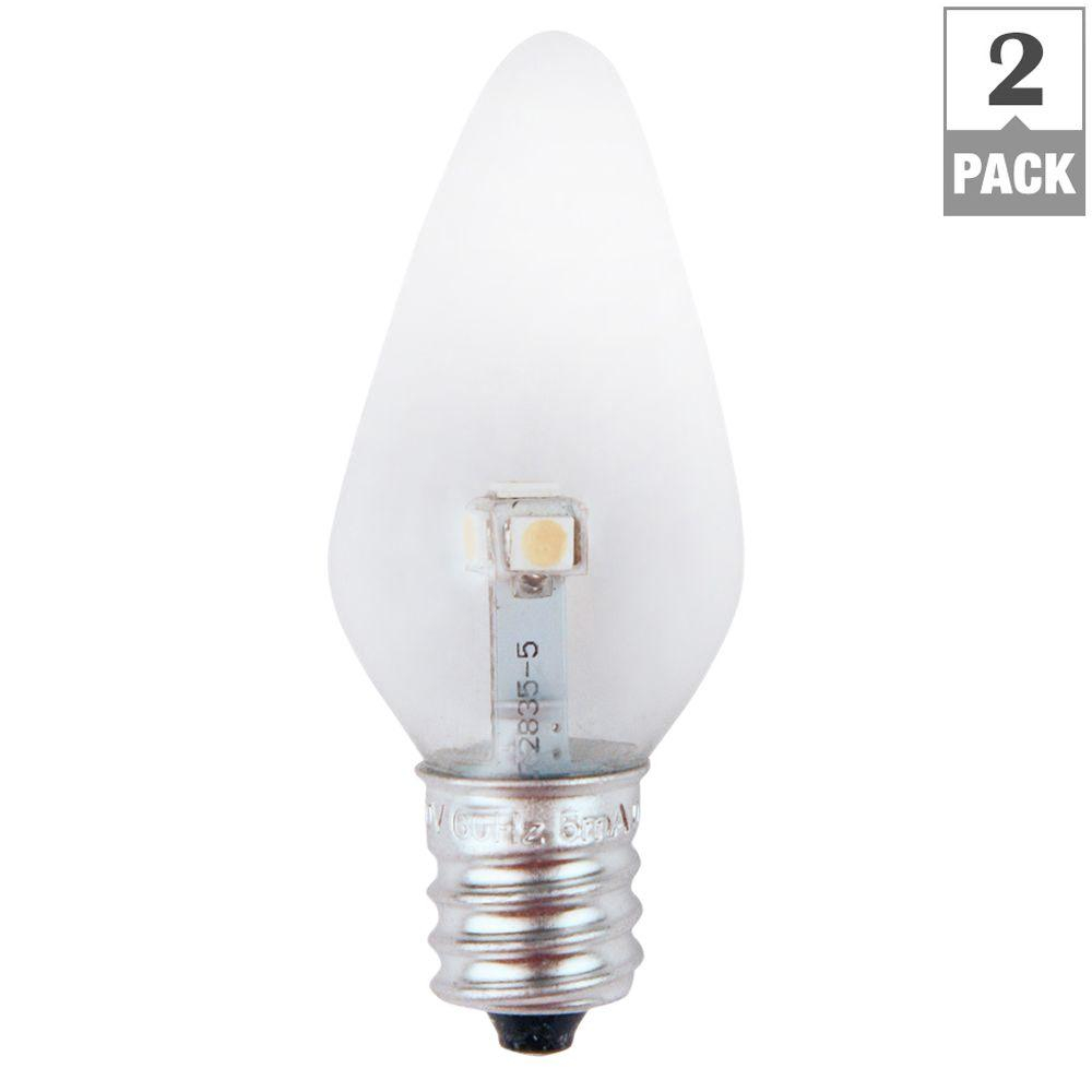 Meridian 7w Equivalent Bright White Clear C7 Non Dimmable Led Within  Measurements 1000 X 1000