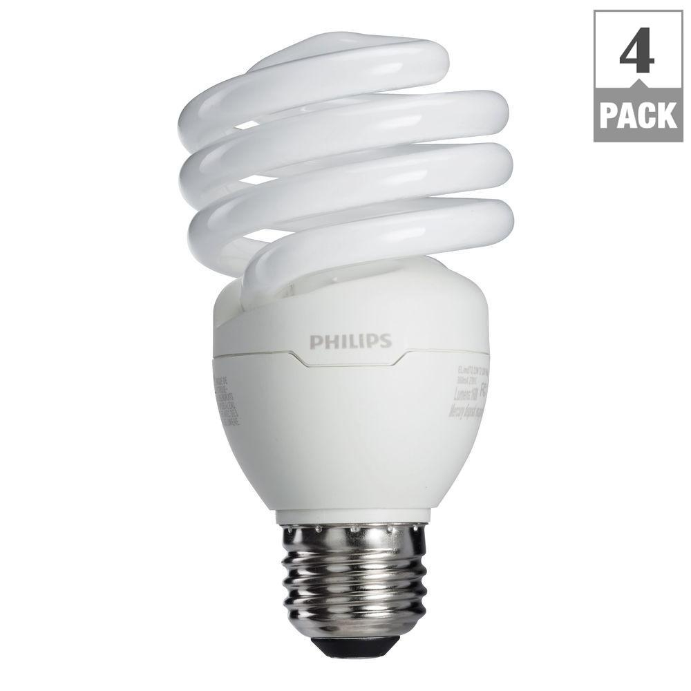 Philips 100 Watt Equivalent T2 Spiral Cfl Light Bulb Soft White Throughout  Sizing 1000 X 1000