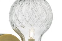 Wrexham Wall Light Aged Brass Cut Crystal Style Glass with measurements 1200 X 1200