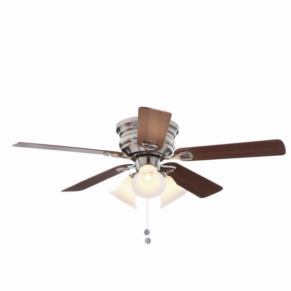 Clarkston 44 In Indoor Brushed Nickel Ceiling Fan With Light Kit with regard to measurements 1000 X 1000