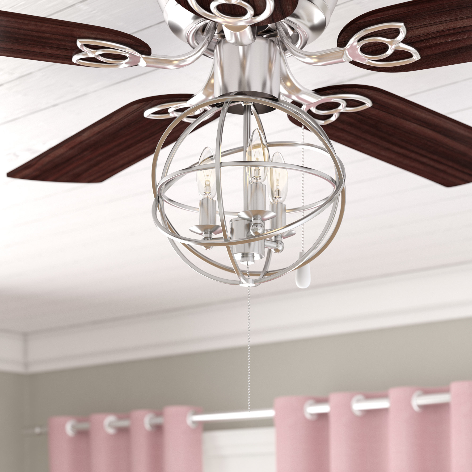 Gracie Oaks 3 Light Led Globe Ceiling Fan Light Kit Reviews Wayfair pertaining to proportions 2000 X 2000