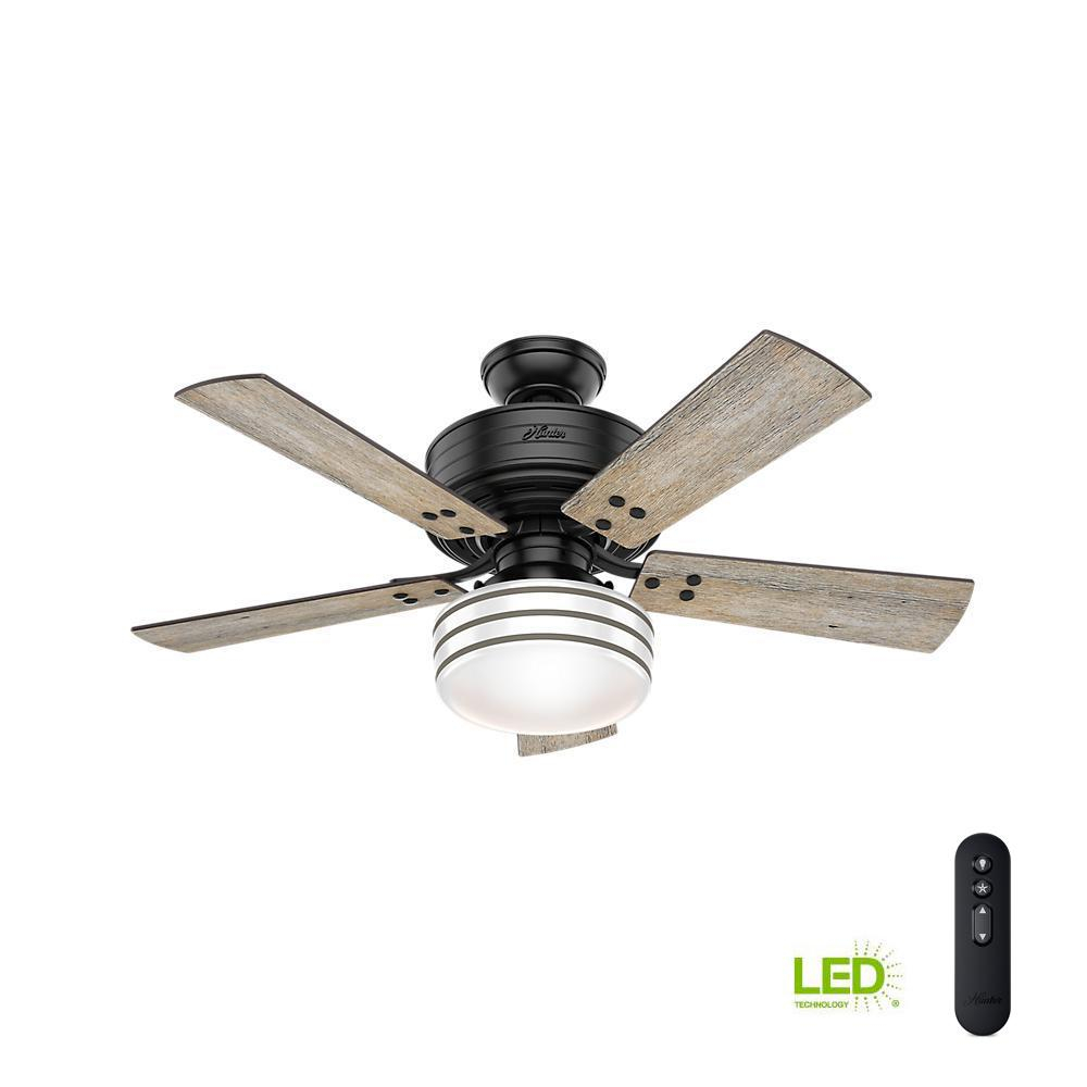 Hunter Cedar Key 44 In Indooroutdoor Matte Black Ceiling Fan With pertaining to proportions 1000 X 1000