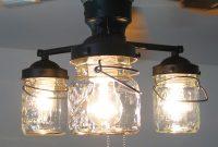 Vintage Canning Jar Ceiling Fan Light Kit 14900 Via Etsy For inside sizing 1000 X 895