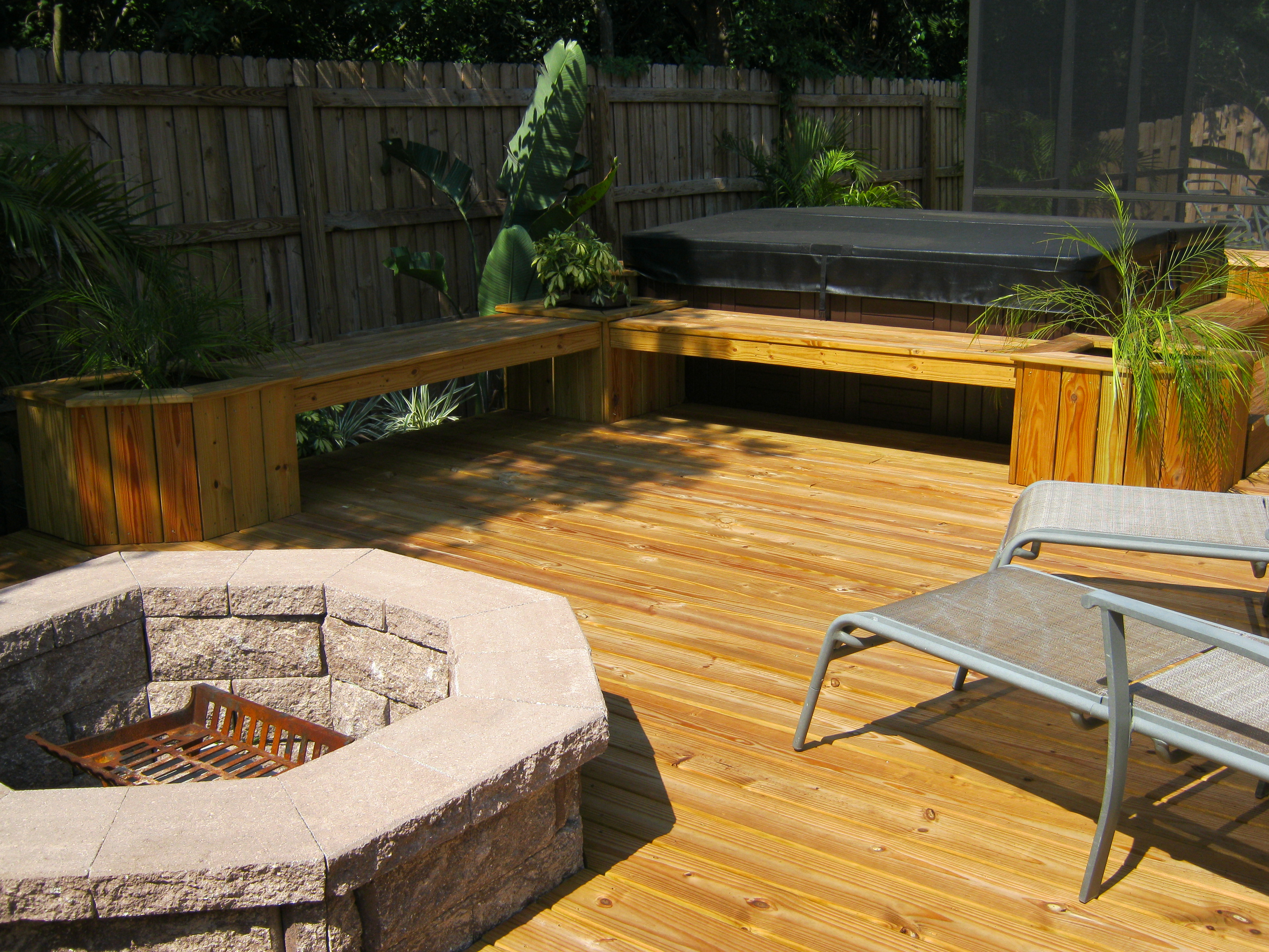 12 Wonderful Deck Fire Pits For Wooden Decks Gallery Deck Home regarding sizing 3648 X 2736