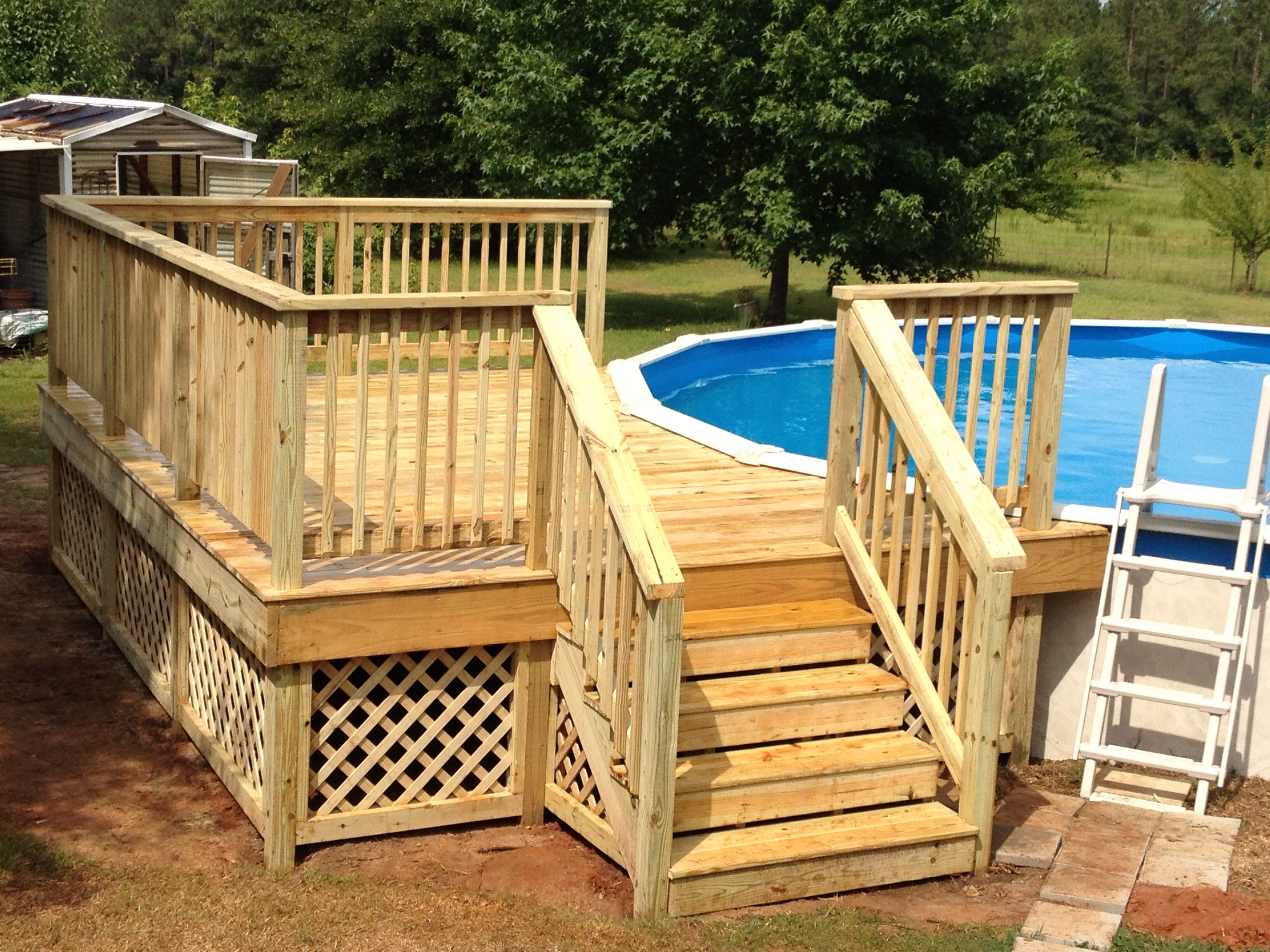 12x16 Deck On Round Pool My Projects In 2019 Above Ground Pool with regard to size 3264 X 2448