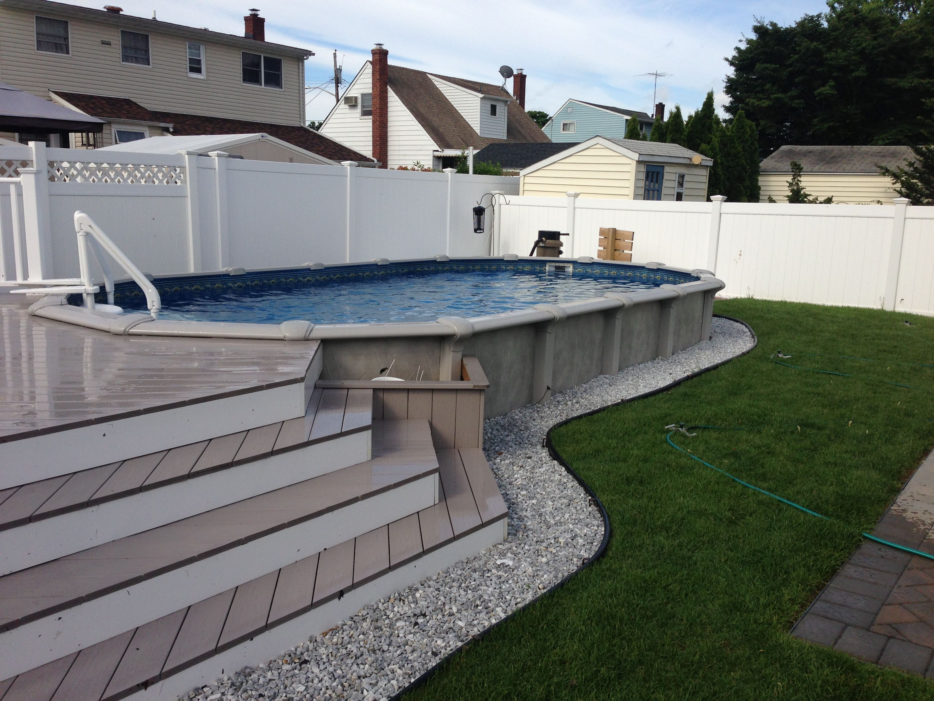 12x24 Pool With Deck Brothers 3 Pools Aboveground Semi Inground with dimensions 3264 X 2448