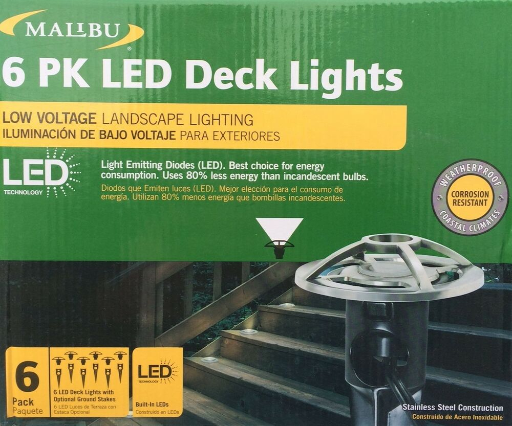 6 Pack Malibu Low Voltage Deckpath Lights Stainless Steel New regarding proportions 1000 X 833