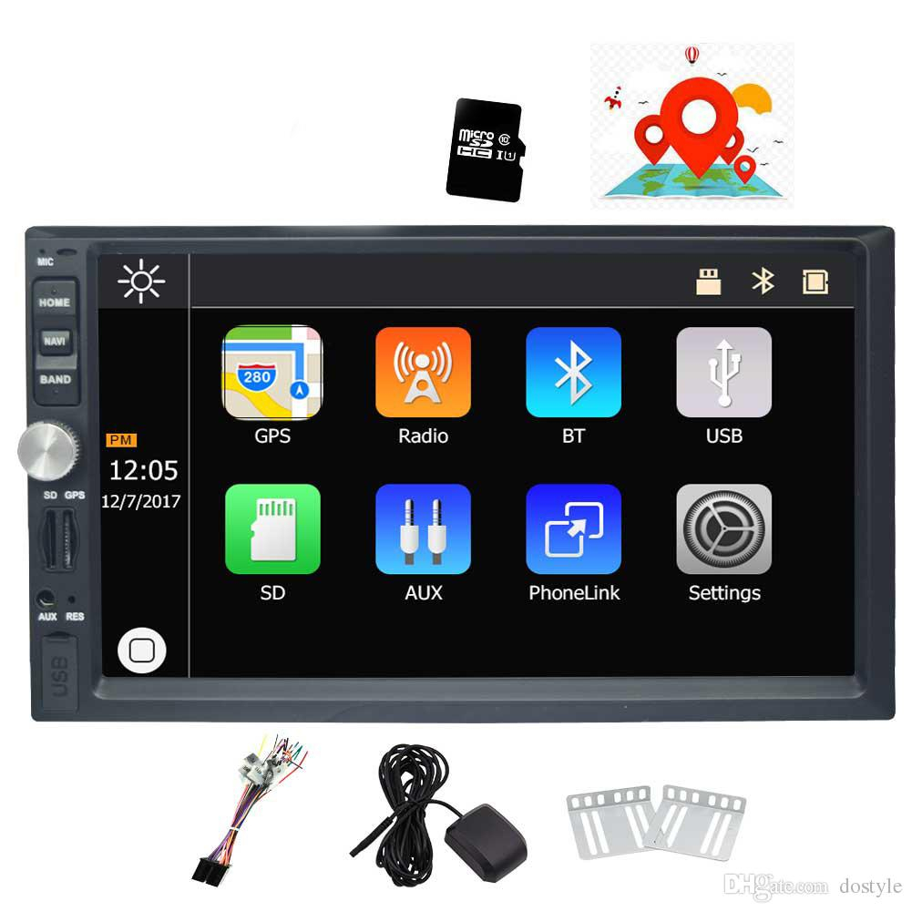 7 Double Din Car Stereo Win Ce Operation System Touch Screen Car throughout measurements 1001 X 1001