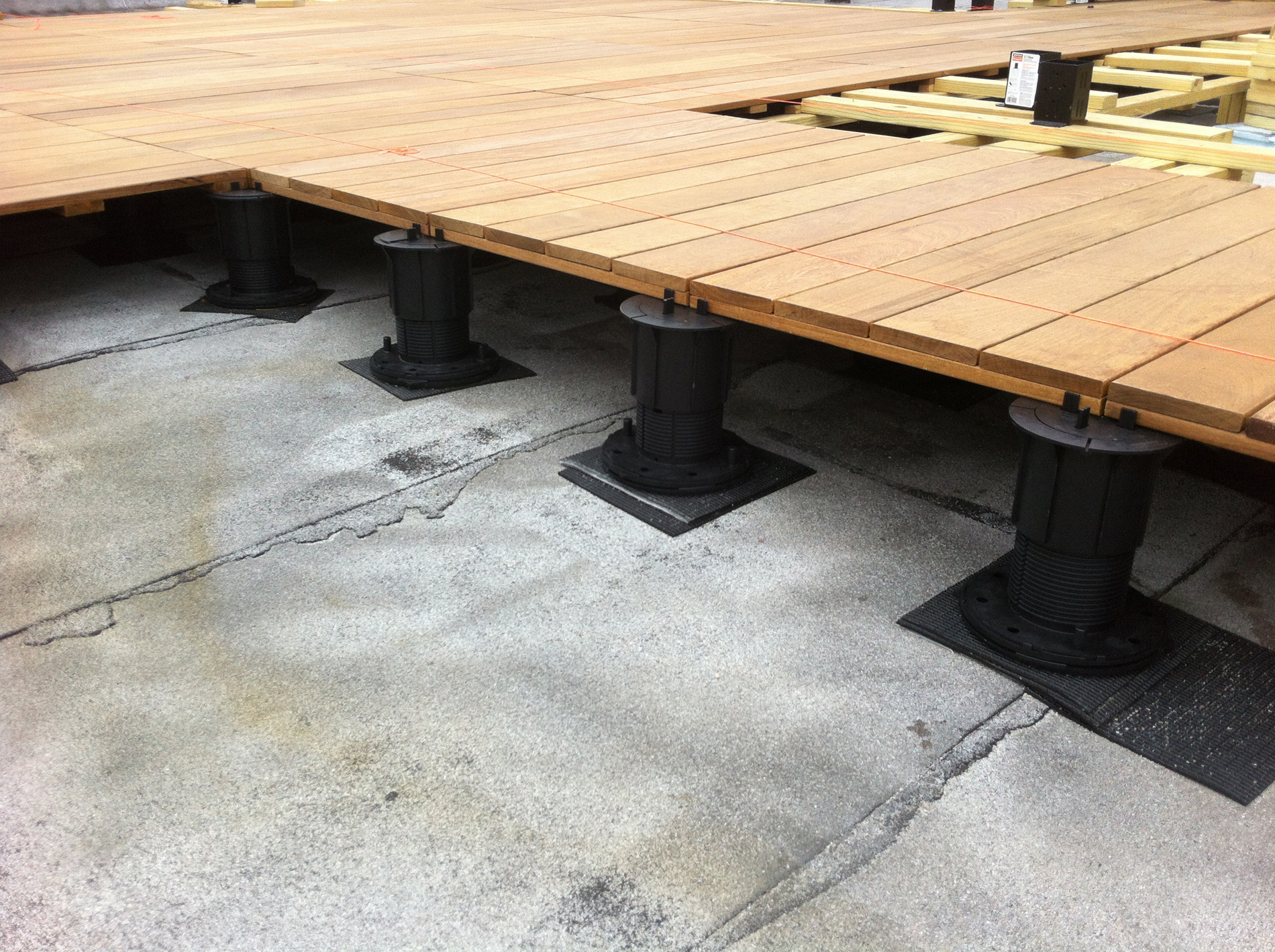 Adjustable Pedestal Decking Systems All Decked Out within proportions 1900 X 1419