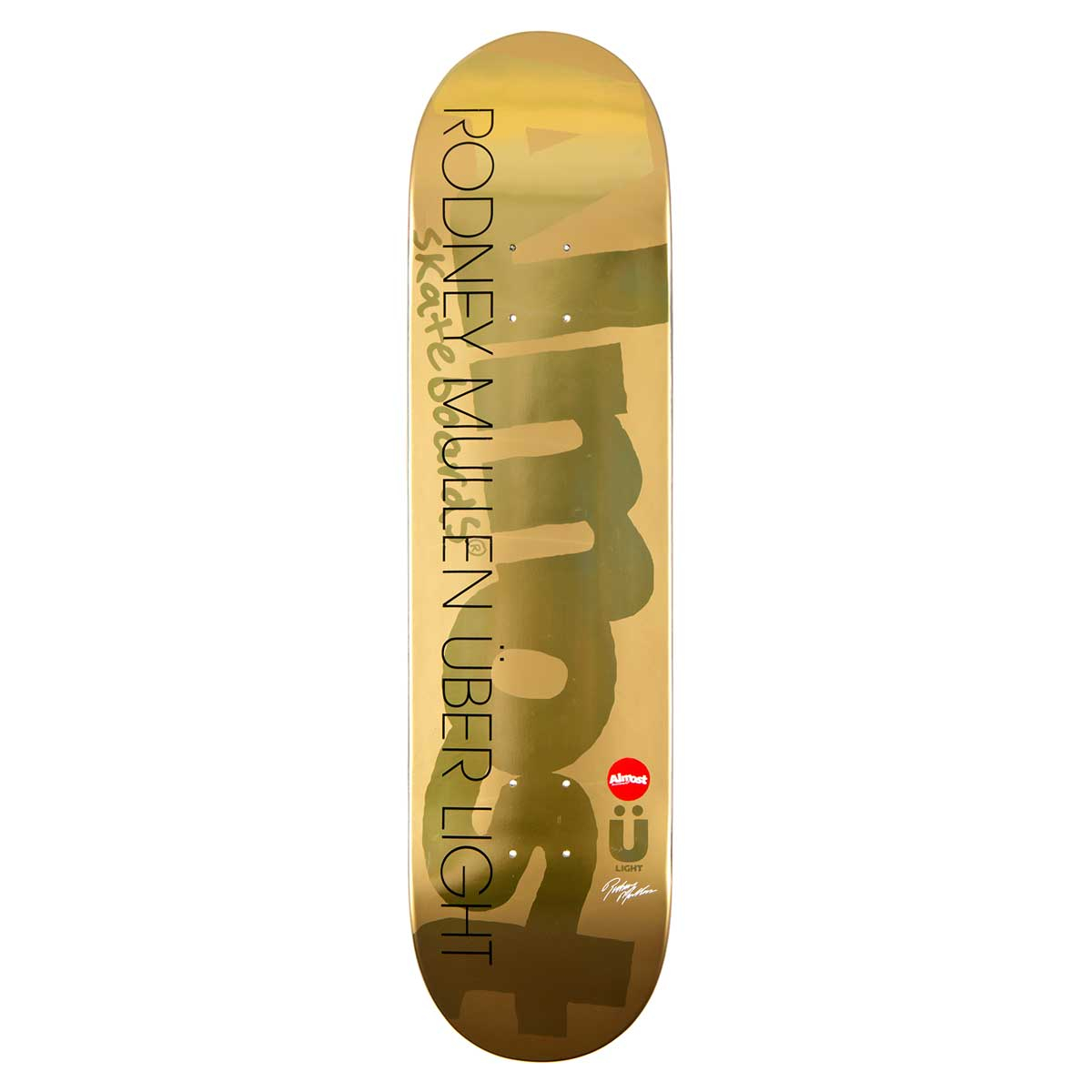 Almost Mullen Uber Gold Ops Skateboard Deck 80 English in measurements 1200 X 1200