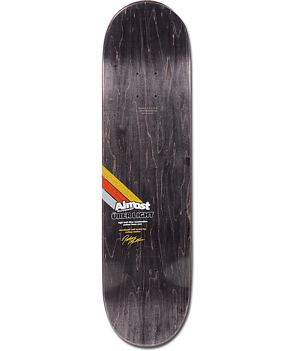 Almost Mullen Uber Spectrum 80 Skateboard Deck Zumiez throughout sizing 1000 X 1184