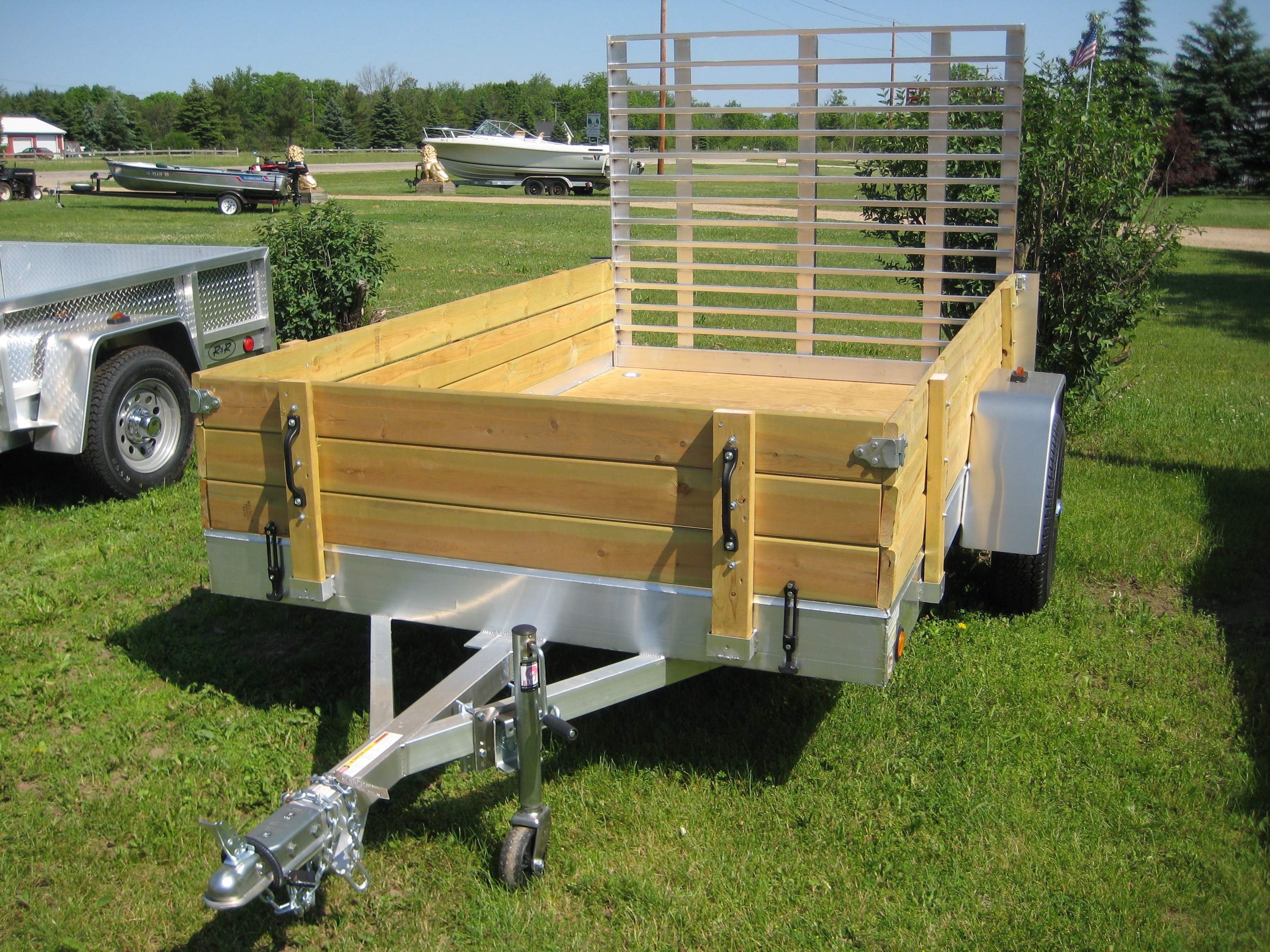 Aluminum Utility Trailer Ut Series Wood Floor W Wood Sides inside sizing 3072 X 2304