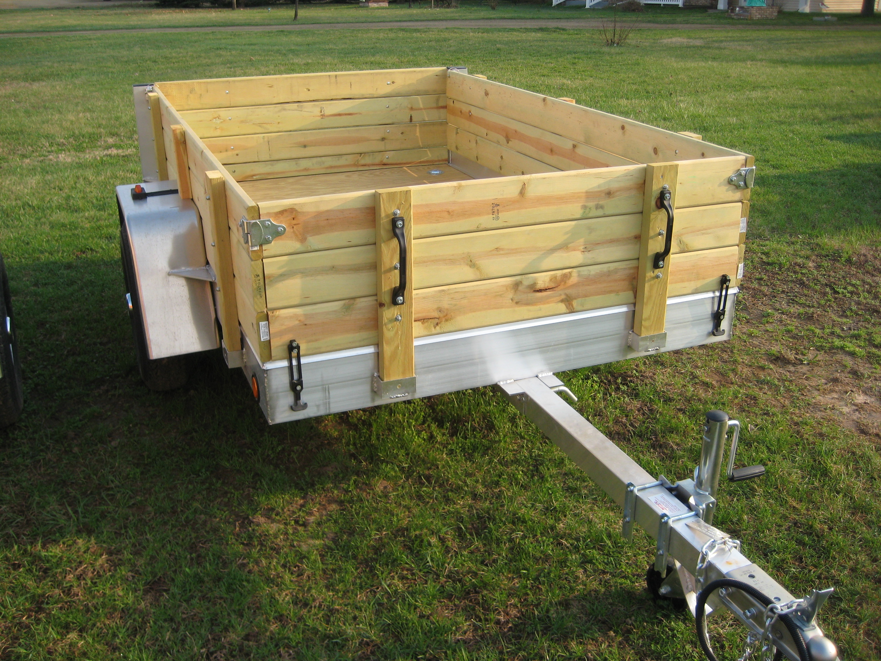 Aluminum Utility Trailer Ut Series Wood Floor W Wood Sides with regard to proportions 3072 X 2304