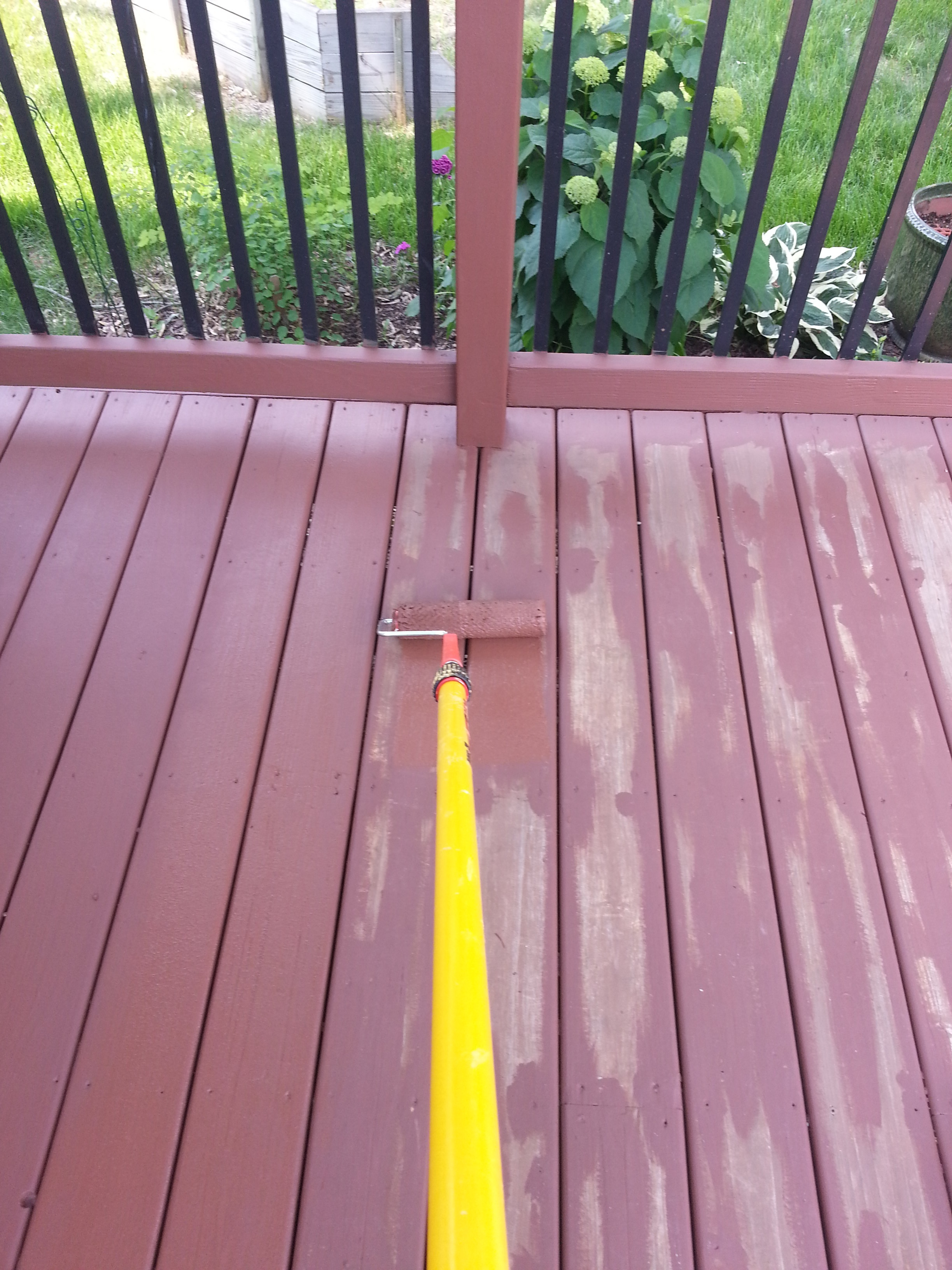 Applying Behr Deck Over To A Wood Deck Small Change In My Deck inside measurements 2448 X 3264