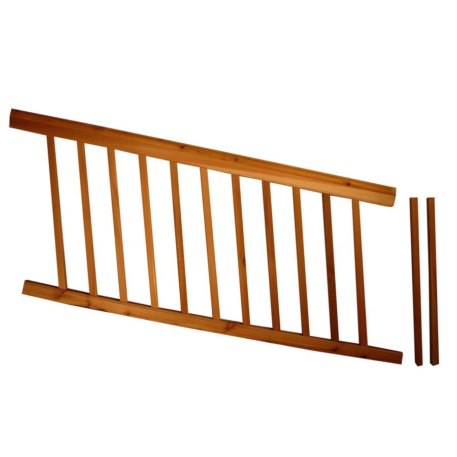 Assembled 577 Ft X 3 Ft Instarail Natural Western Cedar Deck for measurements 900 X 900