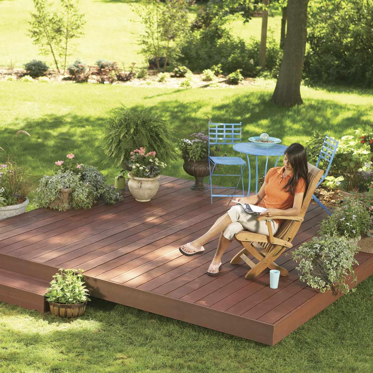 Backyard Decks Build An Island Deck Family Handyman regarding measurements 1200 X 1200