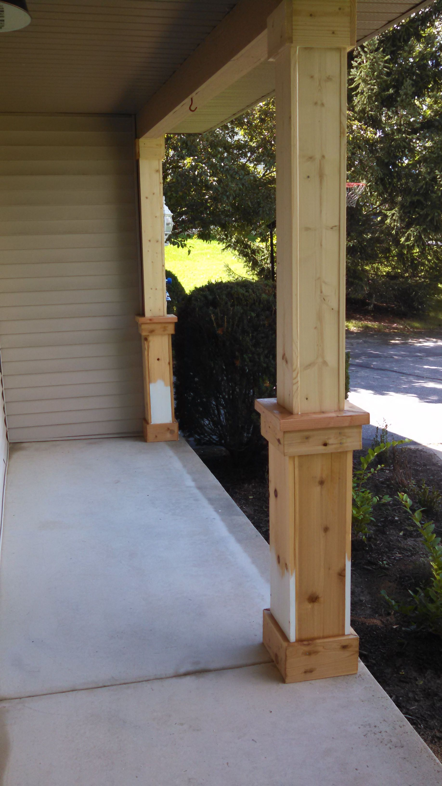 Beefing Up The Porch Columns Part 1 Of A Gazillion Home Decor for proportions 1836 X 3264