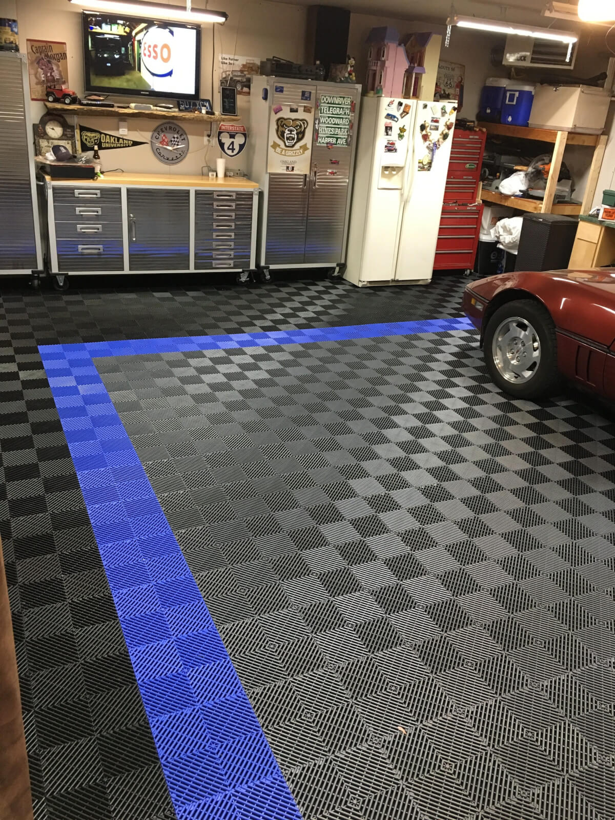 Before And After Racedeck Free Flow Brians Garage Tile pertaining to size 1200 X 1600