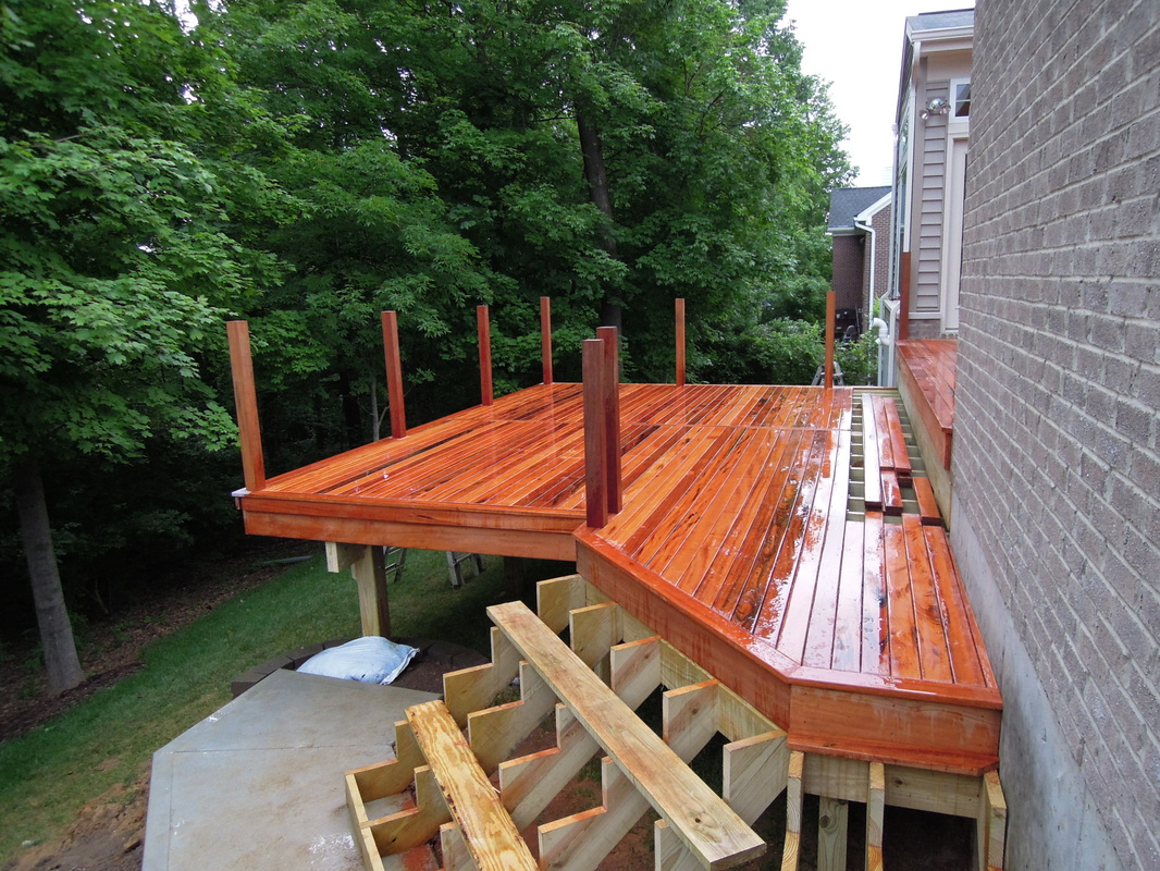 Brazilian Tigerwood Deckanderson Township Oh Area pertaining to proportions 1066 X 800
