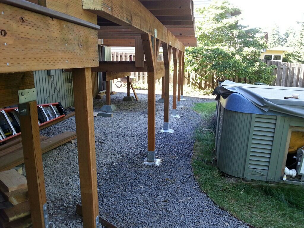Build A Deck Without Digging Holes Using A Deck Post Base And Post in size 1024 X 768