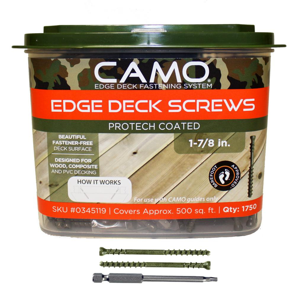 Camo 1 78 In Protech Coated Trimhead Deck Screw 1750 Count inside measurements 1000 X 1000