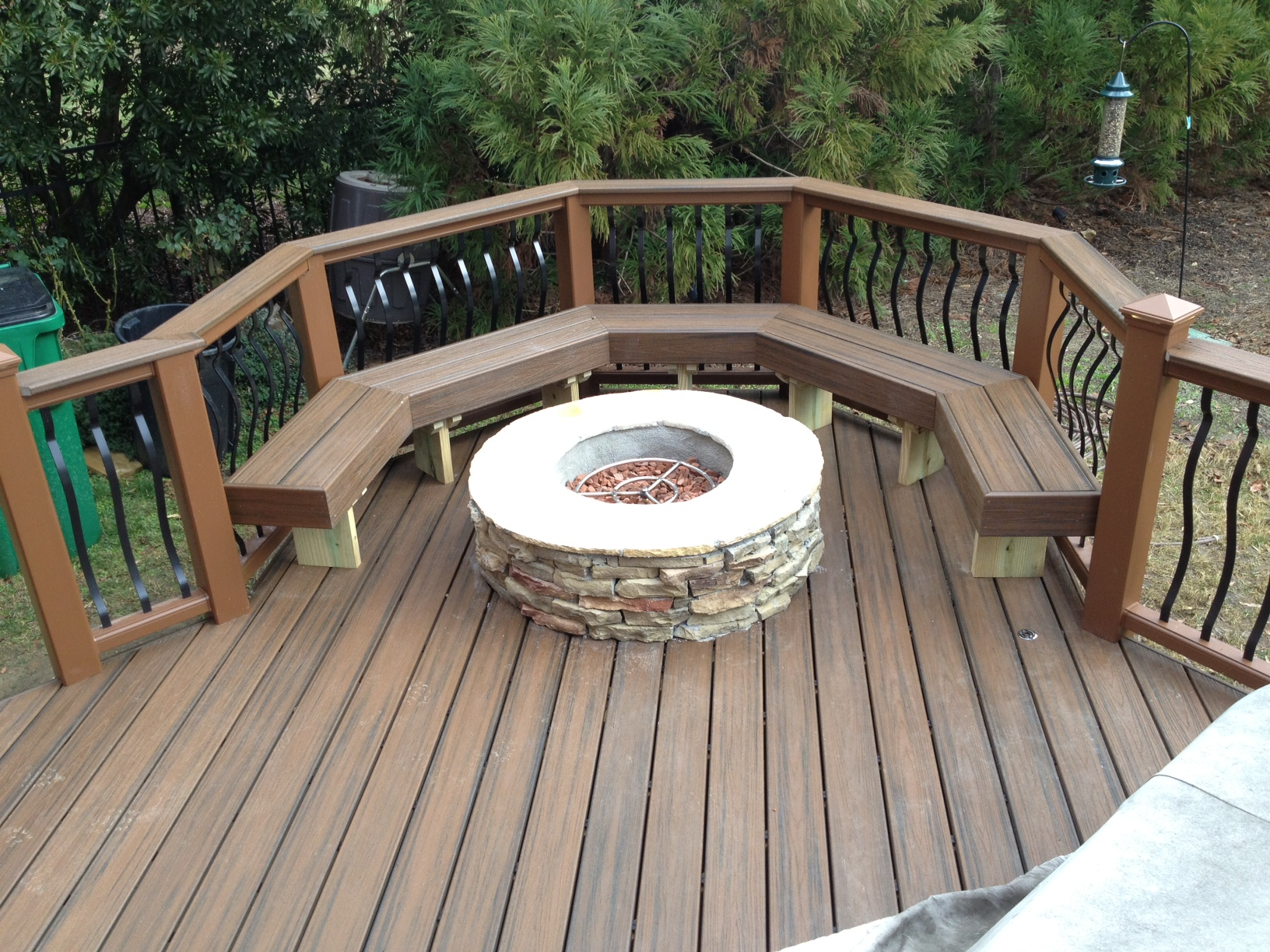 Can You Place A Fire Pit On A Deck Archadeck Of Charlotte intended for dimensions 1632 X 1224