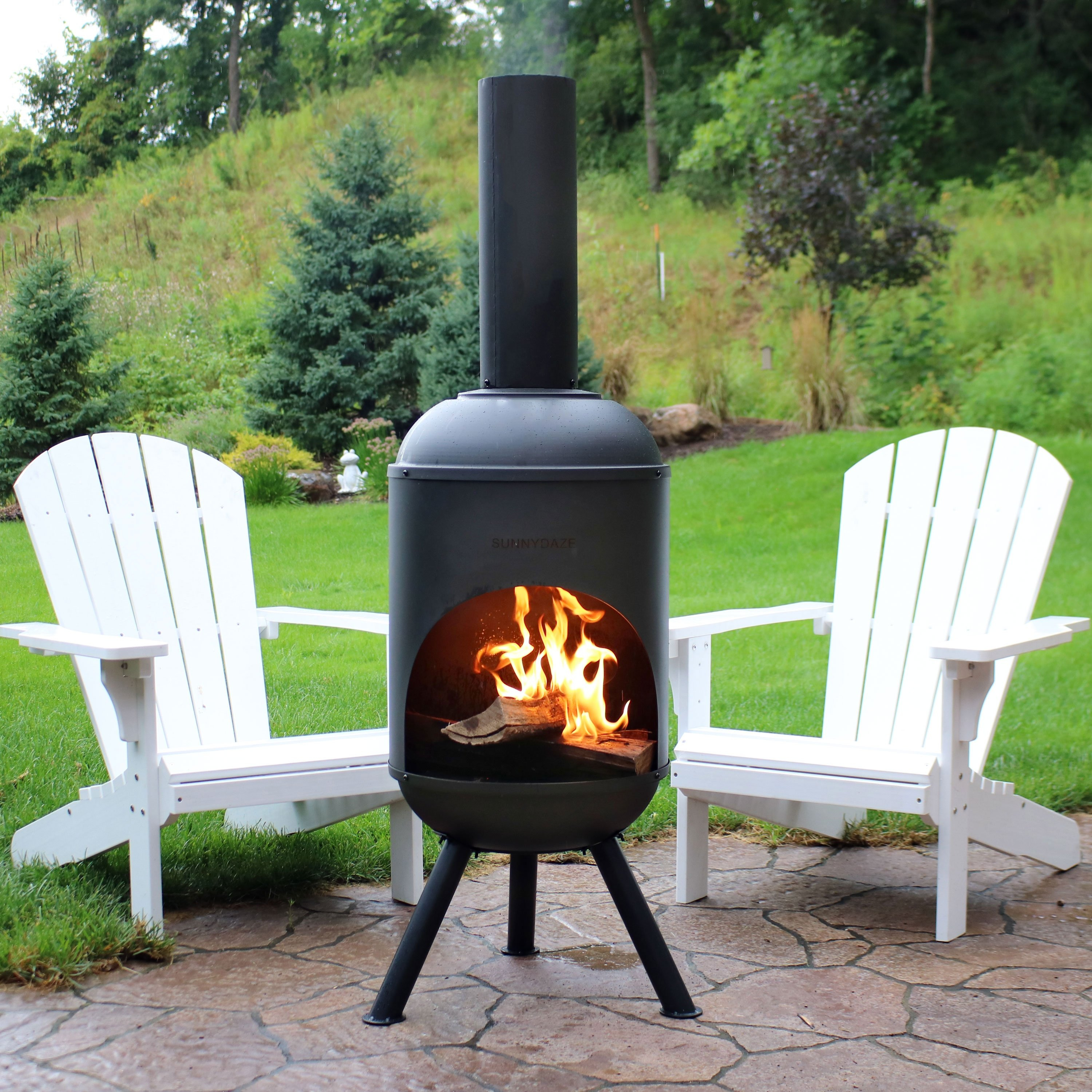 Chiminea On Composite Deck Outdoor Fireplace Wood With Deckorator intended for measurements 3000 X 3000