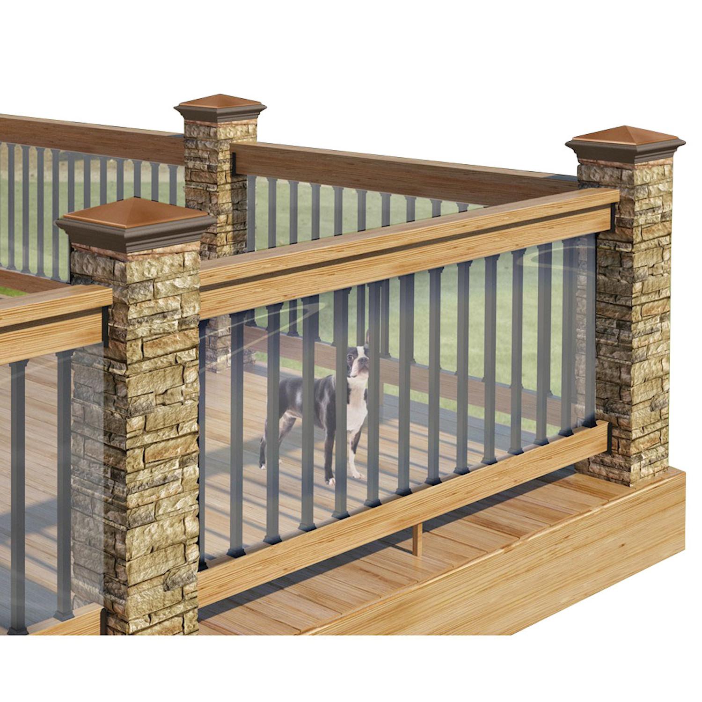 Clear Plastic Deck Railing Shield Uv Resistant 180 L X 35 H for size 1500 X 1500