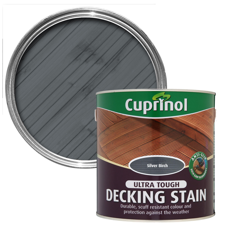 Cuprinol Anti Slip Silver Birch Decking Stain 25l Departments with regard to proportions 3000 X 3000