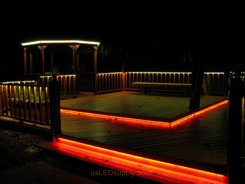 Deck Lighting Ideas Led Deck Lighting With Rgb Flexible Led Strips pertaining to proportions 1024 X 768