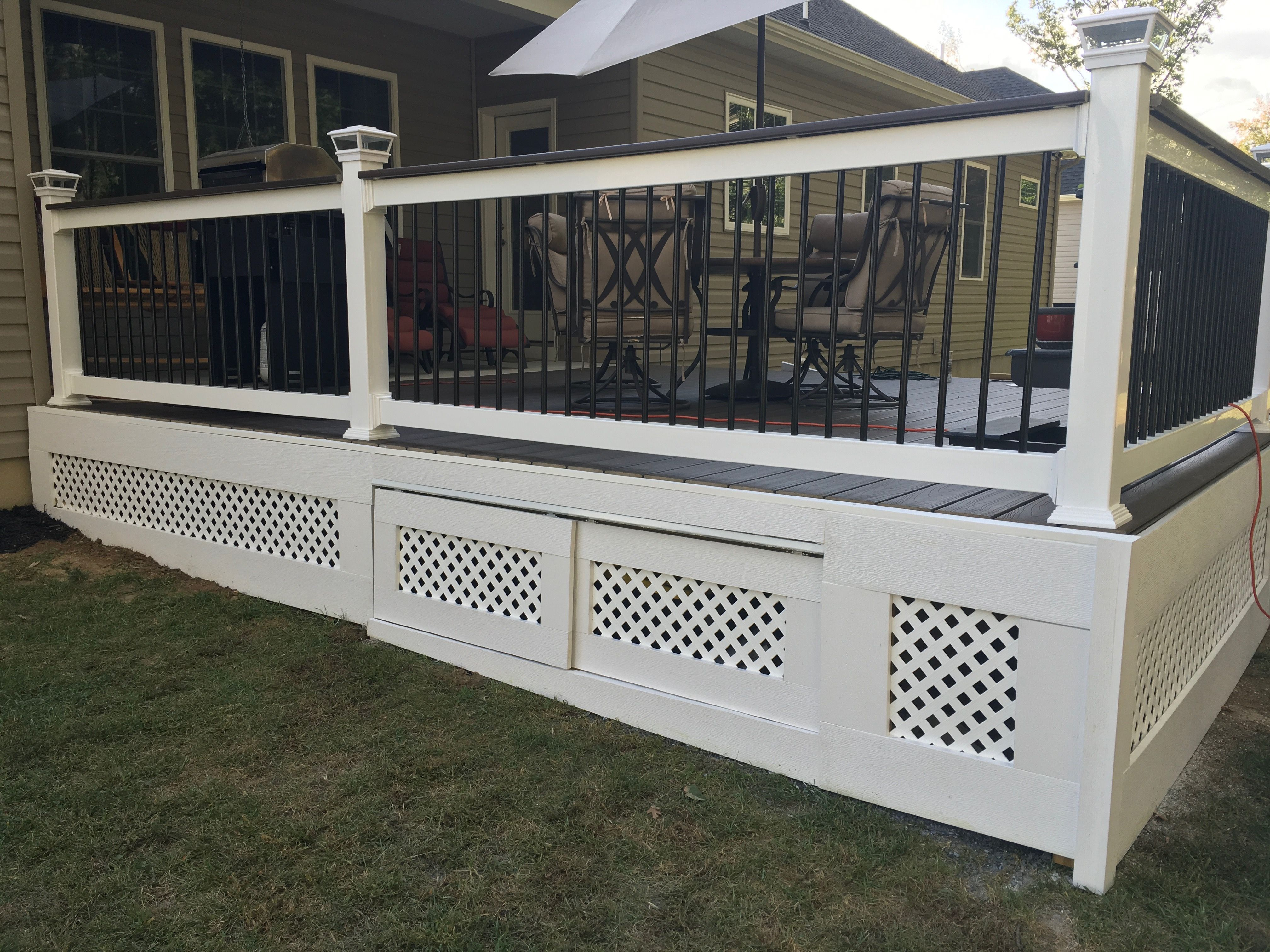 Deck Skirting Deck Skirting With Storage Deck Railings Trex Deck pertaining to size 4032 X 3024
