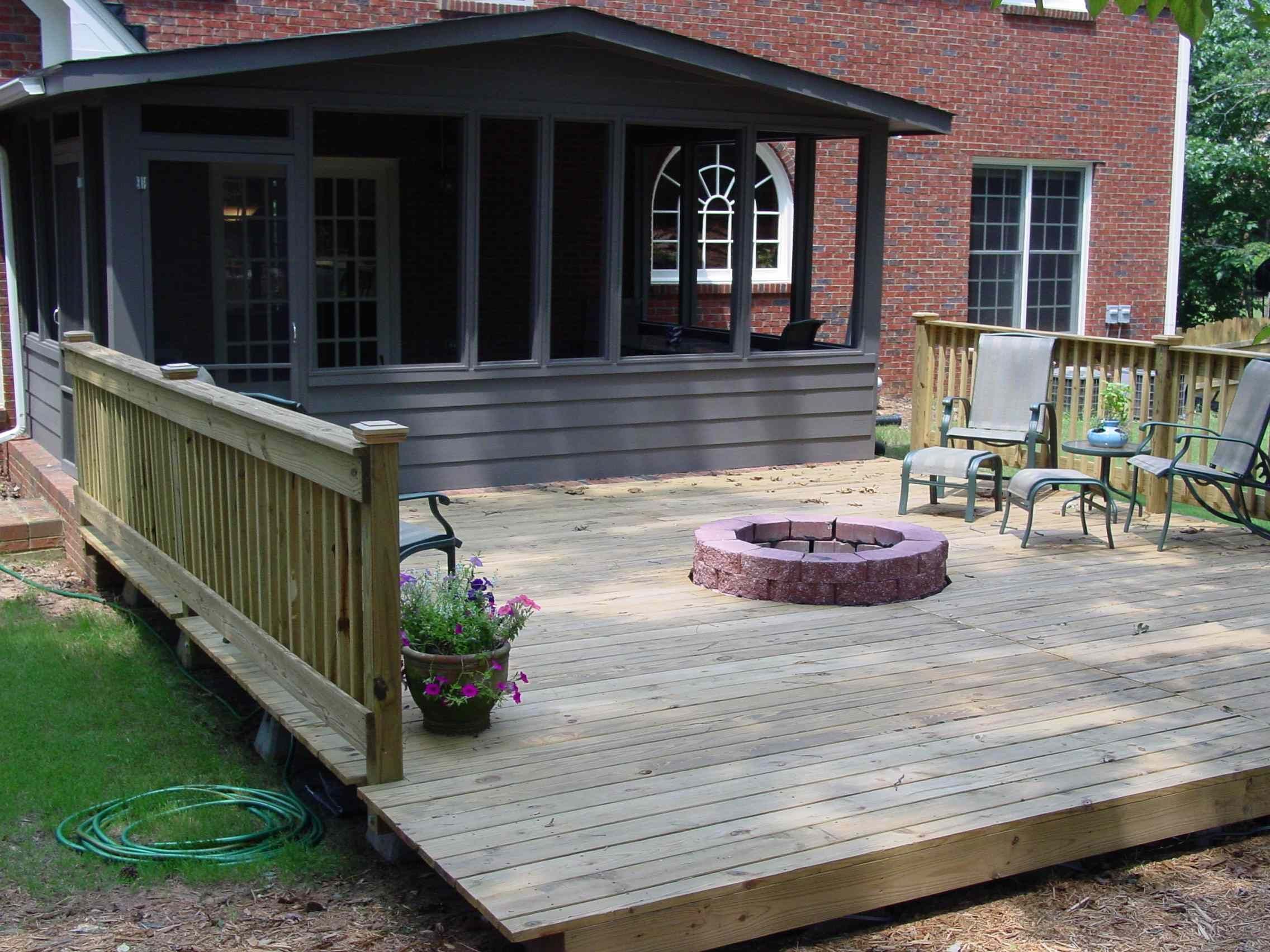 Deck With Fire Pit Quality Home Remodeling For The Home Deck pertaining to proportions 2272 X 1704