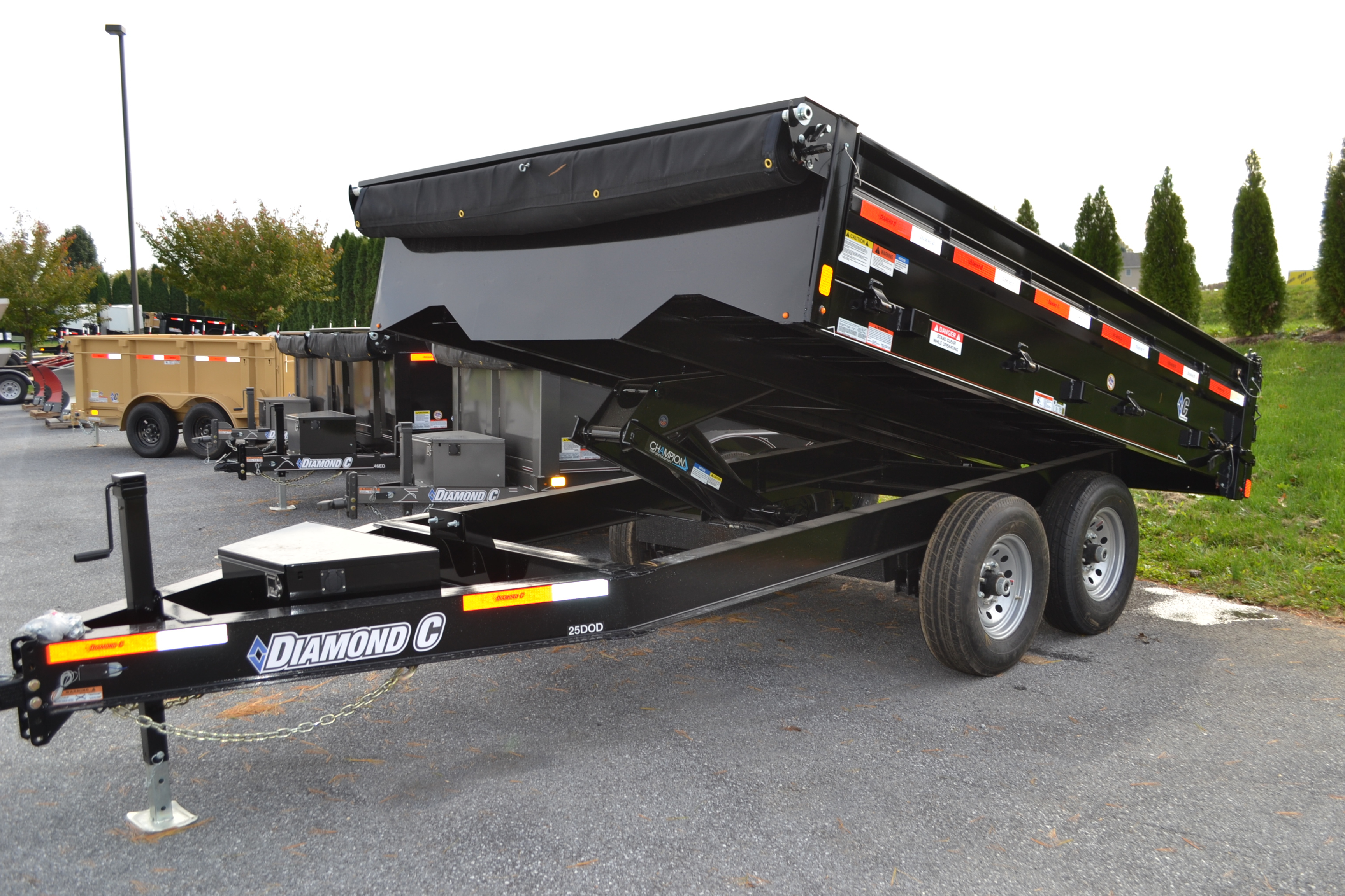 Diamond C Dump Trailer 8x12 Deck Over Ajs Truck Trailer Center with proportions 3456 X 2304