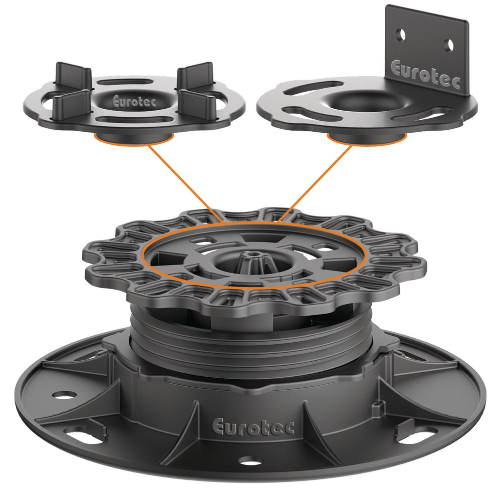 Eurotec Deck Support Plastic Adjustable Pedestal Pro S 10 Pieces intended for size 1000 X 1000