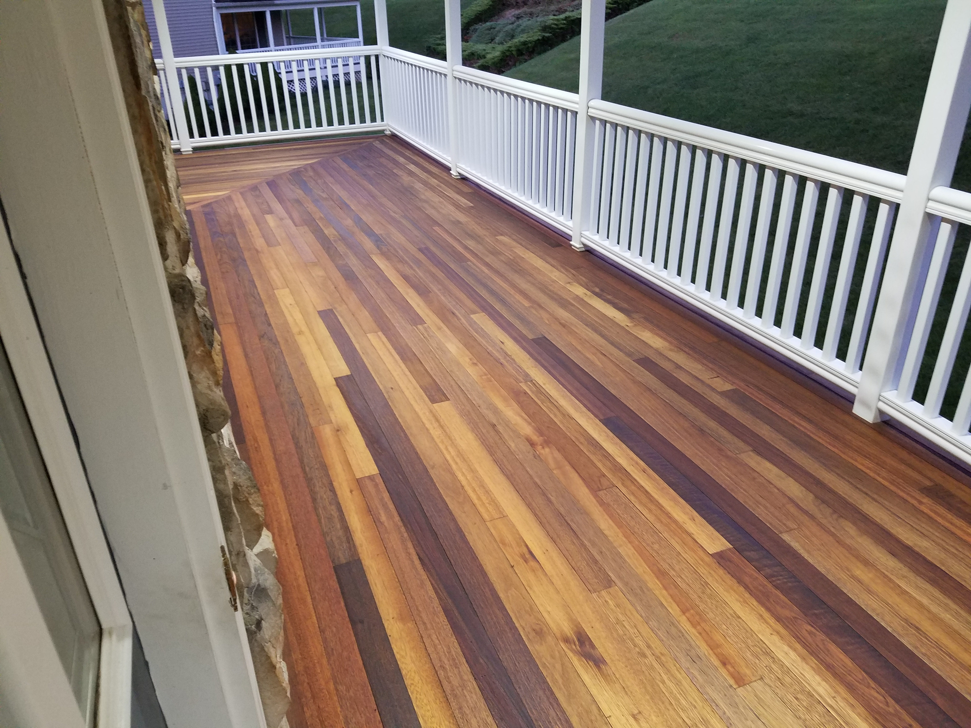 Finished Mahogany Porch With Penofin For Hardwood Deck Stain throughout size 4032 X 3024