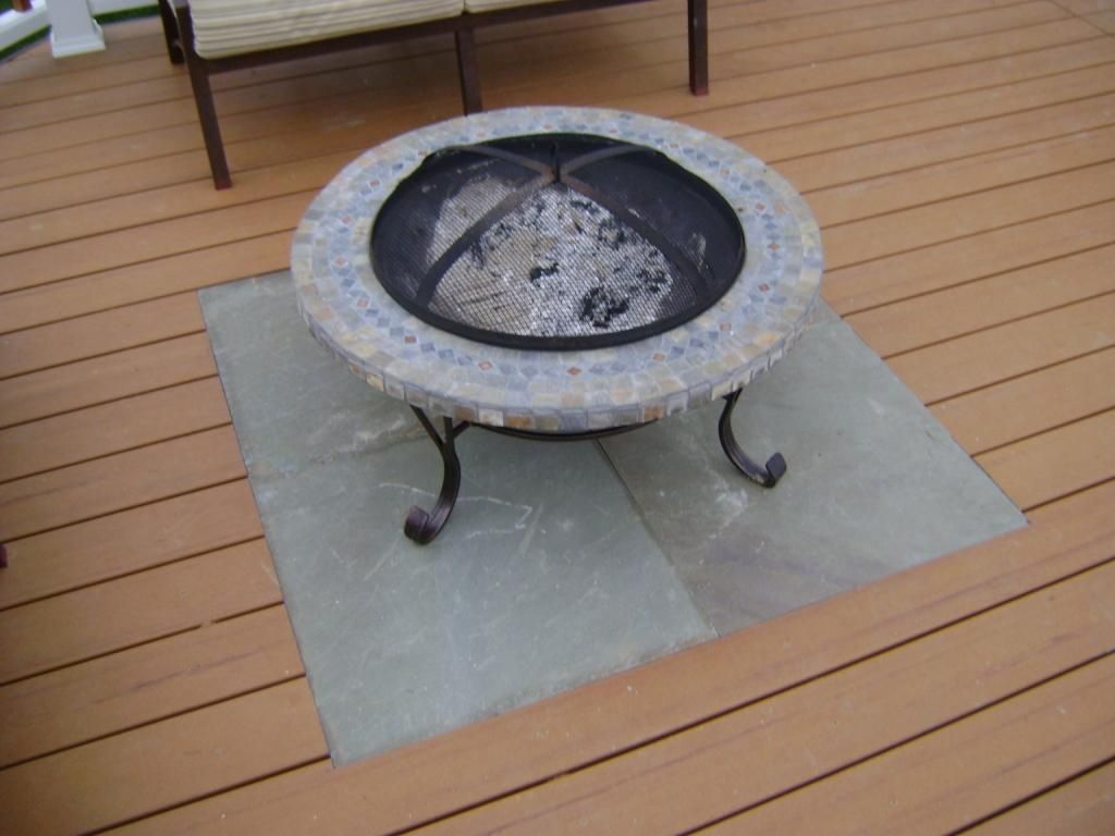 Firepit Or Chiminea On Elevated Deck Methods Decks Fencing regarding dimensions 1024 X 768