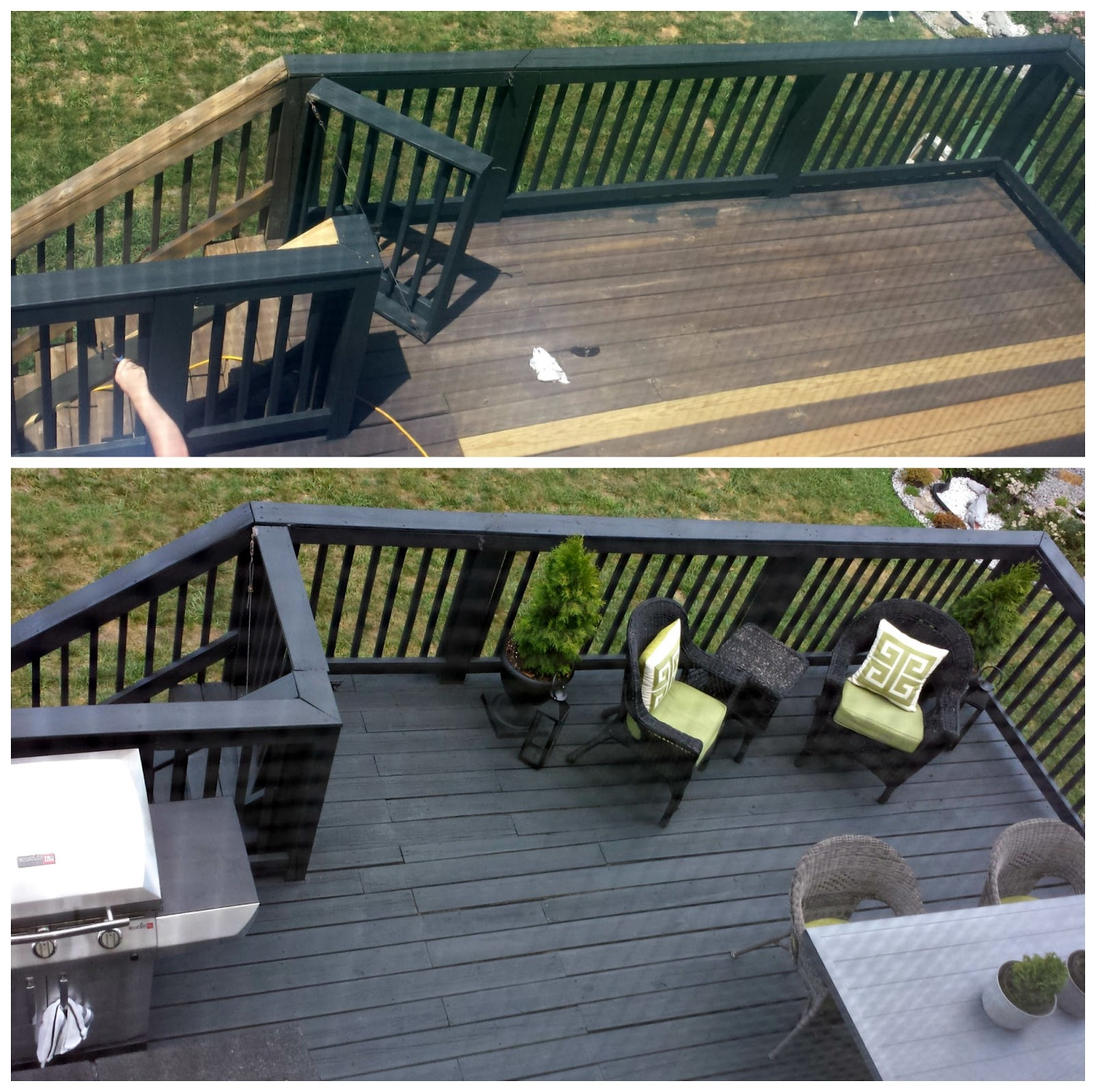 Focal Point Styling Before After Black Slate Stain Deck Repair intended for dimensions 1600 X 1593