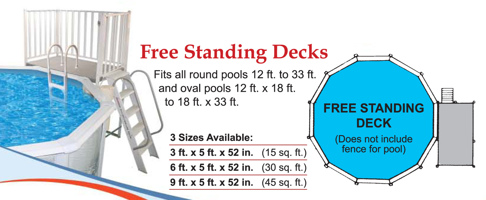 Free Standing Aluminum Decks From Swimming Pool Discounters intended for measurements 1623 X 669