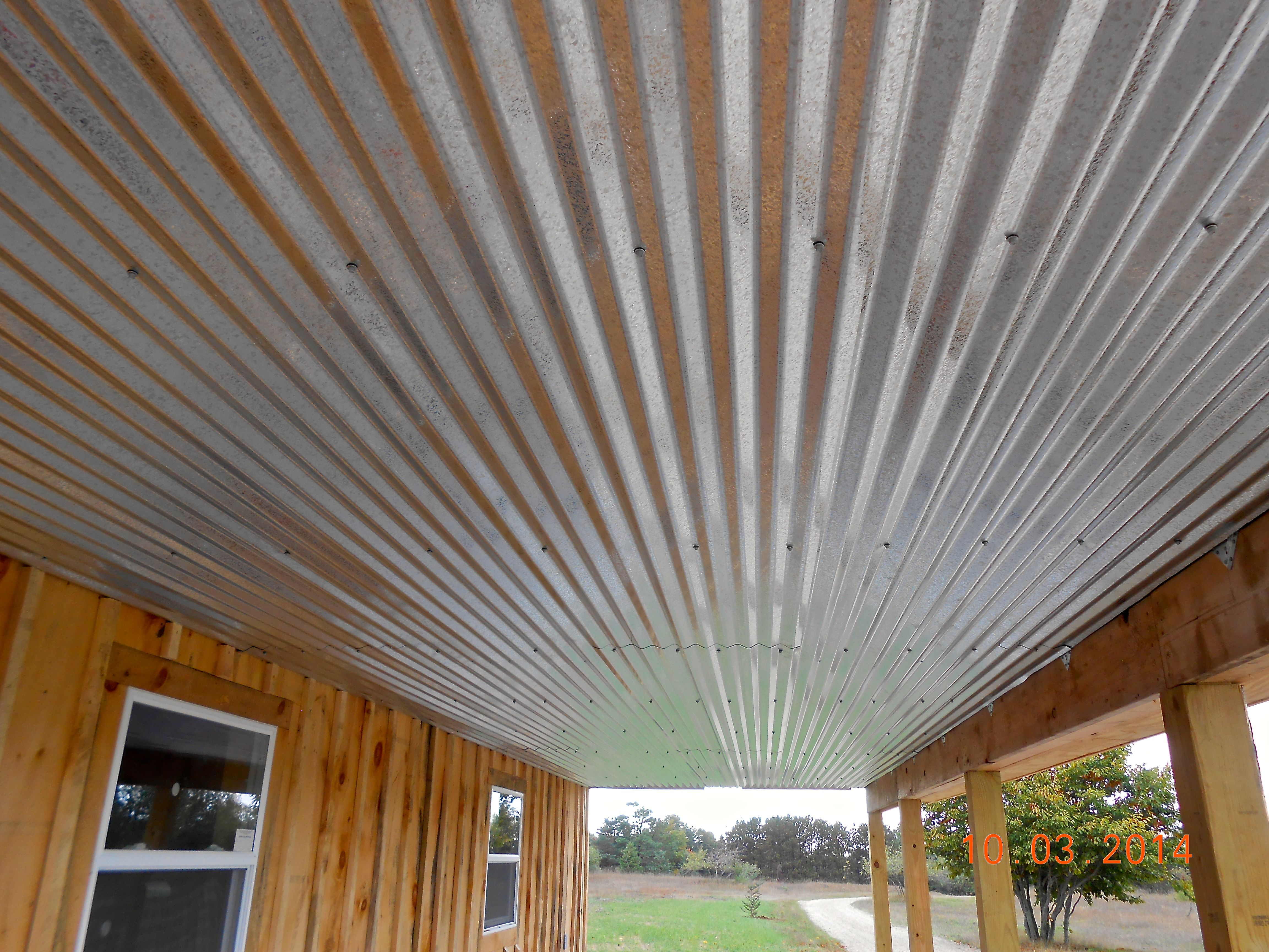 Galvanized Ceiling Galvanized Metal In 2019 Porch Ceiling intended for sizing 4608 X 3456