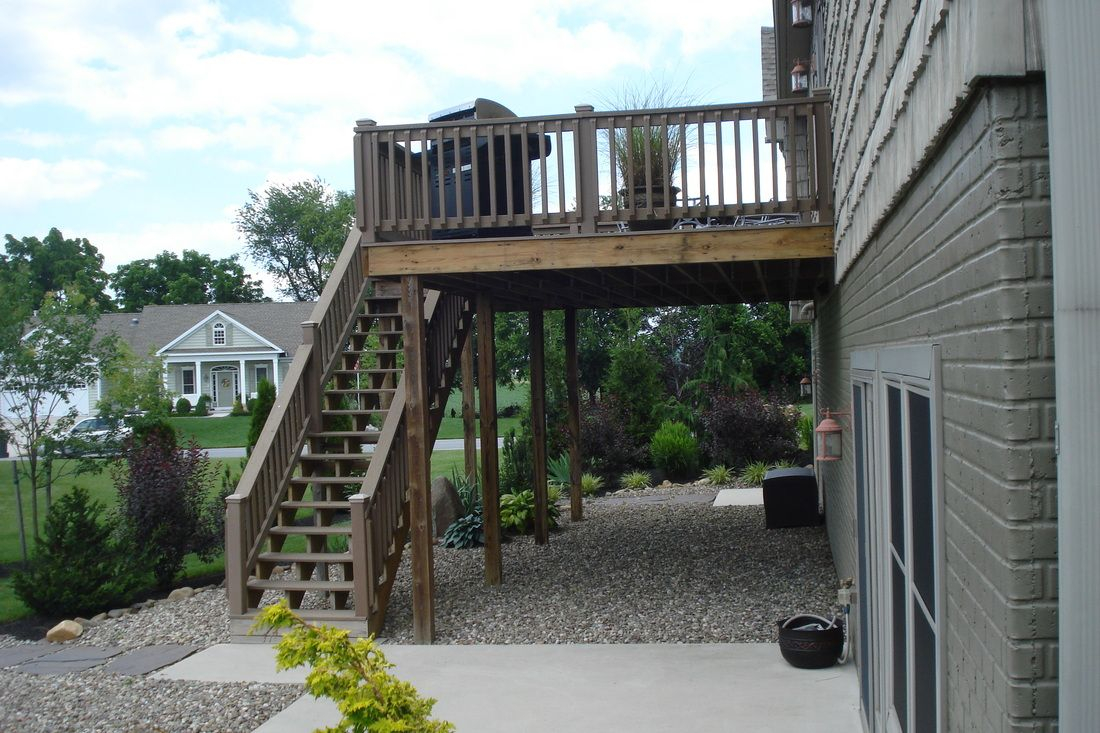 Gravel Underneath Wood Deck Yard Ideas Under Decks Deck Back Deck with sizing 1100 X 733