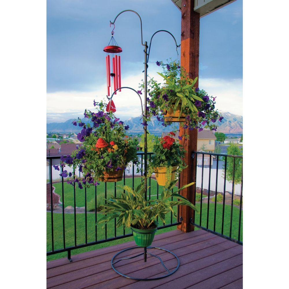 Hanging Outdoor Plant Stand Patio Baskets Holder Flower Planter with size 1000 X 1000