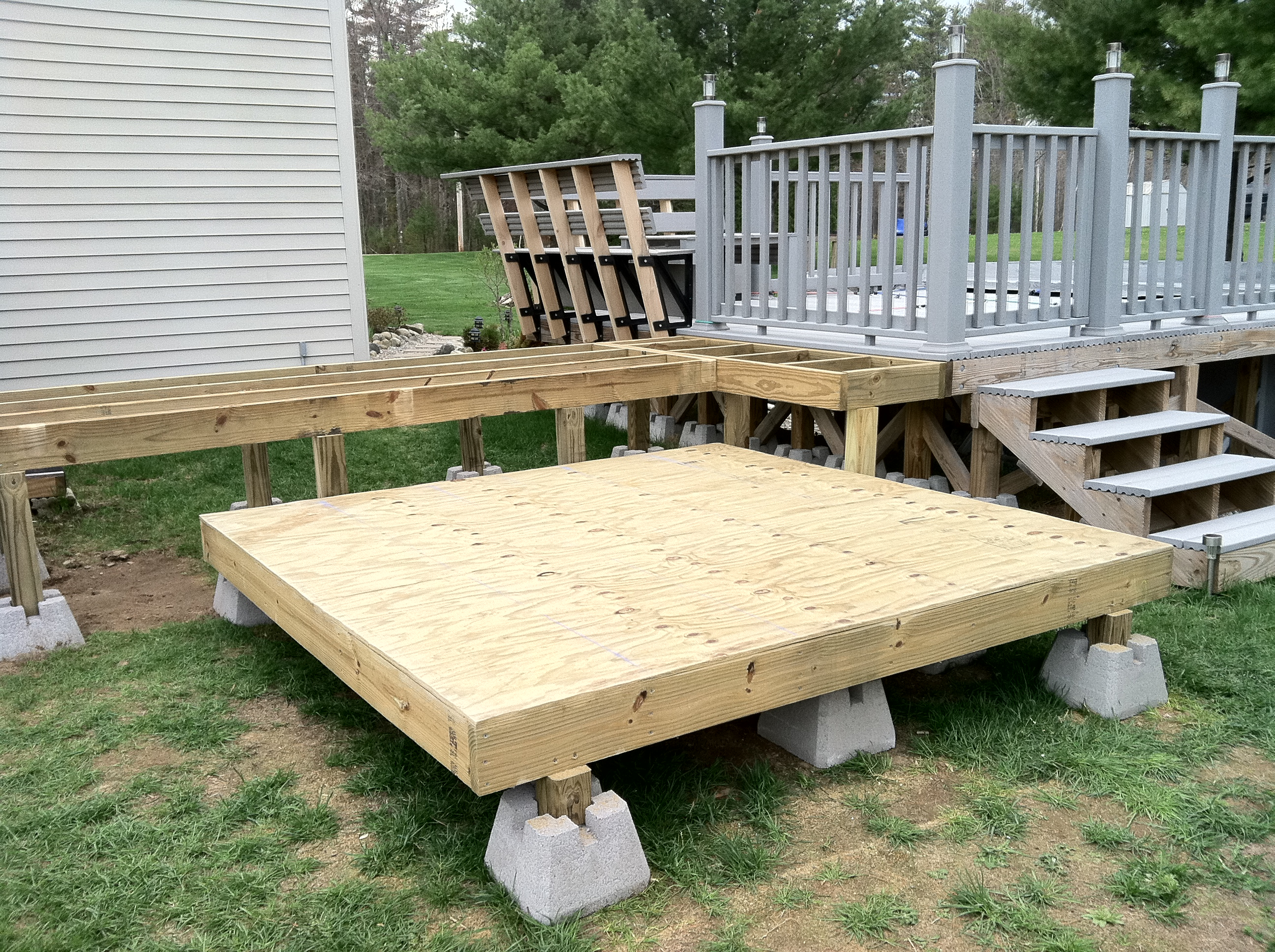 Hot Tub Walls And Walkway Supports Repair And Refinishing A Hot Tub inside proportions 2592 X 1936
