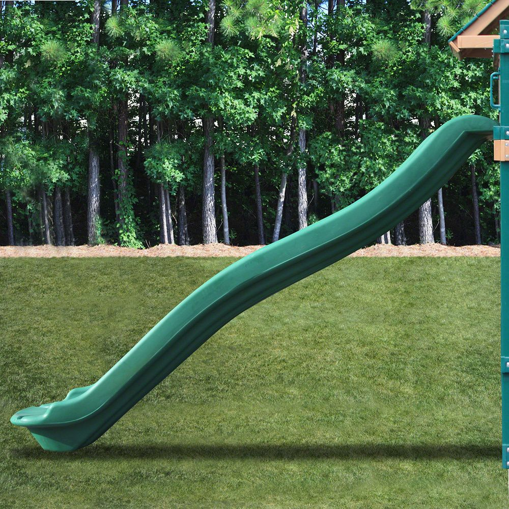 Kidwise 7 Ft Deck Height Green Rave Slide 568 Playhouse Deck inside measurements 1000 X 1000